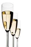 Gläser von Champagne Stockfoto