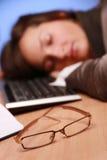 Gläser von einem schläfrigen Stockfoto