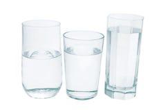 Gläser Wasser stockfoto
