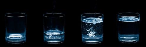 Gläser Wasserluftblasen Stockfotos