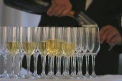 Gläser weißer Wein Lizenzfreie Stockfotografie