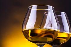 Gläser Weinbrand stockfotografie