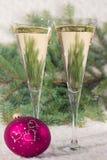 Gläser Weinchampagner stockfoto