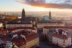 Glättung über der Stadt von Dresden, Sachsen Stockbild