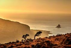 Glättung über Gramvousa-Insel (Kreta) Stockfotografie