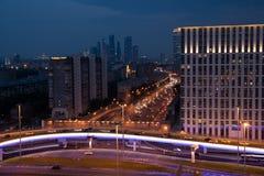 Glättung der Ansicht der Stadtstraßen lizenzfreies stockfoto