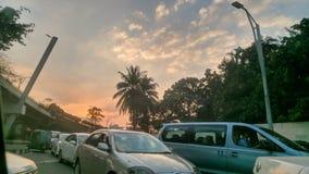 Glättung des Momentes vor Sonnenuntergang stockbilder