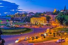 Glättung des Wegs in Tiflis Lizenzfreies Stockfoto