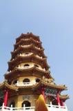 glåmigt tai-torn Arkivfoton