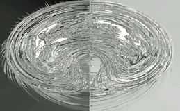 Glóbulo metálico dividido Fotografía de archivo libre de regalías