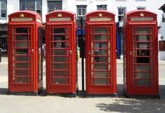 glóbulo rojo del teléfono en Londres fotos de archivo