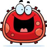 Glóbulo rojo feliz Imágenes de archivo libres de regalías