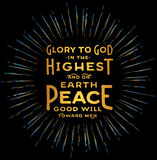 Glória ao deus no mais alto Foto de Stock
