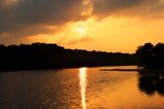 Glória do por do sol Imagem de Stock Royalty Free