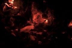 glöda för kol Arkivfoto