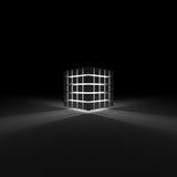 glöda för kub Arkivbild