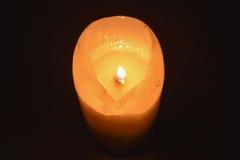 glöda för stearinljus Royaltyfri Foto