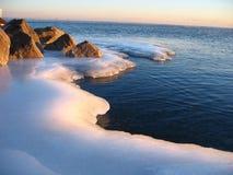 glödande is Arkivbild
