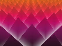 Glödande abstrakt bakgrund för pyramider 3d Arkivbilder