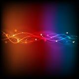 Glödande abstrakt ljust vektordiagram Fotografering för Bildbyråer