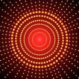 Glödande bakgrund för vektor, röda cirklar, abstrakta ljus på mörk bakgrund vektor illustrationer