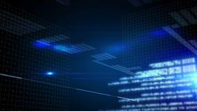 Glödande blå teknologimanöverenhet vektor illustrationer