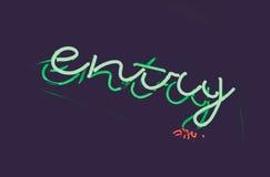 Glödande bokstävertillträde för uteliv Garnering för klubbaingångstyp Royaltyfri Fotografi