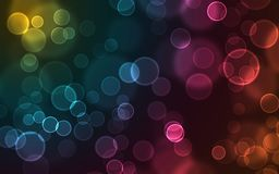 Glödande bubblor på en mörk bakgrund vektor illustrationer