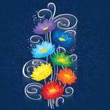 Glödande Chakras lotusblommor Arkivfoton