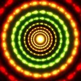Glödande cirkelbakgrund för vektor Arkivbild