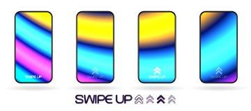 Glödande flödeslinjer abstrakt bakgrundsvektor för neon stock illustrationer