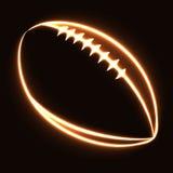 Glödande fotbollboll Fotografering för Bildbyråer