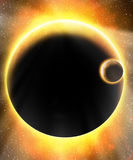 Glödande främmande planet vektor illustrationer