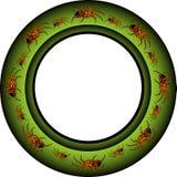 glödande grön white royaltyfri illustrationer