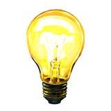 Glödande gult idébegrepp för ljus kula stock illustrationer