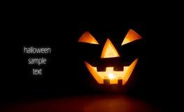 glödande halloween pumpa royaltyfri foto
