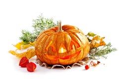 Glödande Halloween pumpa Arkivbilder