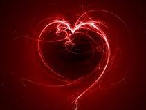 glödande hjärtared för fractal Arkivbild