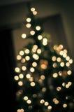 Glödande julgran Arkivbilder