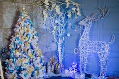 Glödande julhjortar Royaltyfri Foto