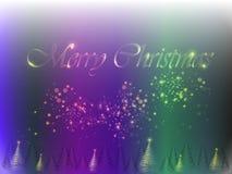 Glödande jultree Royaltyfri Foto