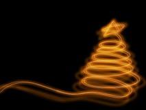 Glödande jultree Royaltyfri Fotografi