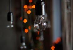 glödande lampa Fotografering för Bildbyråer