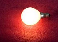 glödande lampa för kula Arkivbild