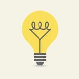Glödande lightbulb, inspiration, inblickbegrepp Royaltyfri Illustrationer