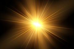 Glödande ljus exploderar på en genomskinlig bakgrund royaltyfri illustrationer
