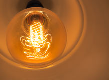 Glödande ljus kula för tappning Royaltyfri Fotografi