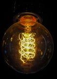 Glödande ljus kula för tappning Arkivbilder