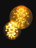 Glödande ljus kula för tappning Royaltyfri Bild