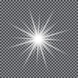 Glödande ljus stjärna för vektor vektor illustrationer